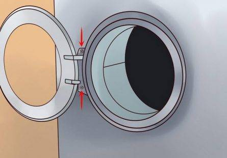 Làm thế nào để thay thế miếng đệm cao su ở cửa của máy giặt ?