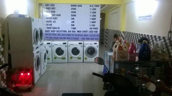 Hoạt động tiệm giặt là