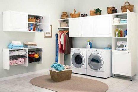 Không gian phòng giặt