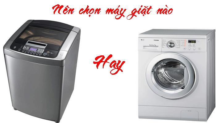 máy giặt cửa trước hay cửa trên