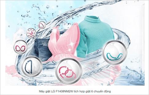 6 chuyen dong giat - May giat lg 1408 có xứng đáng với đồng tiền bạn bỏ ra không