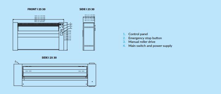 i25 120 - Máy là lô công nghiệp Primus I25 - 120