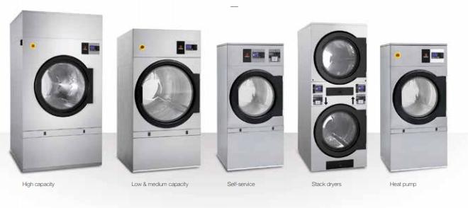 Cac loai may say cong nghiep Fagor  - Hướng dẫn sử dụng máy sấy quần áo công nghiệp