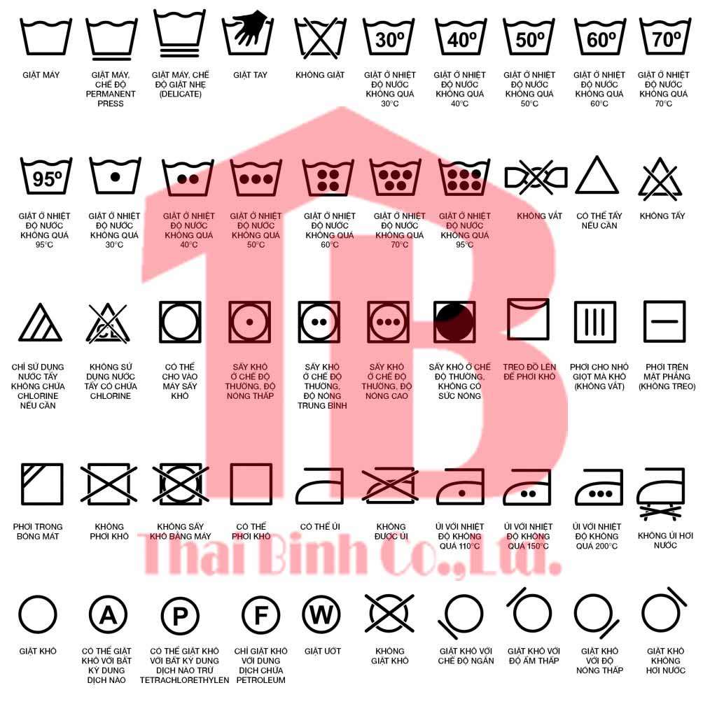 Bảng ký hiệu giặt là và các ký hiệu đặc biệt trong ngành giặt là