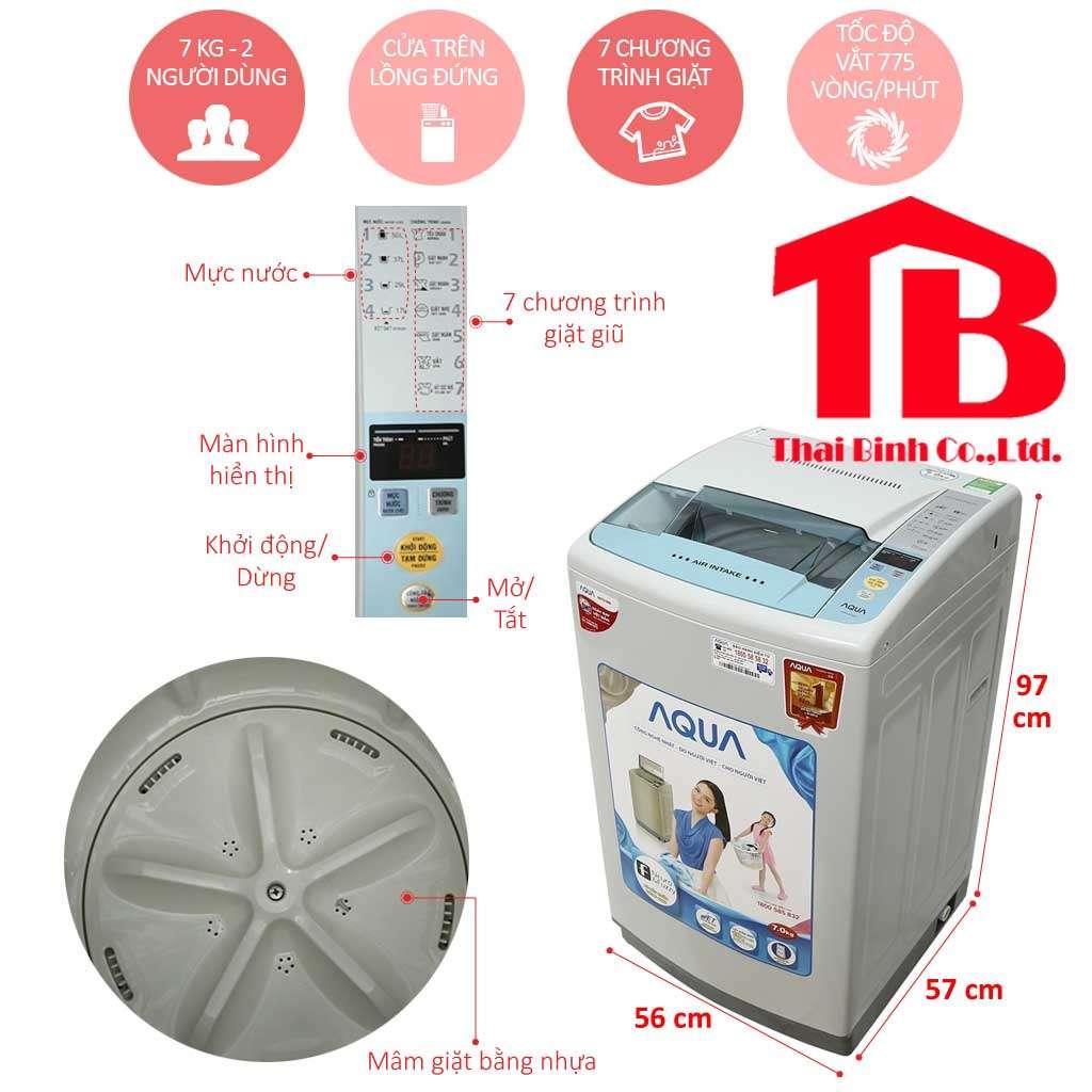 may giat aqua 3 - Top 4 máy giặt Sanyo 7kg dùng tốt và bền cho gia đình