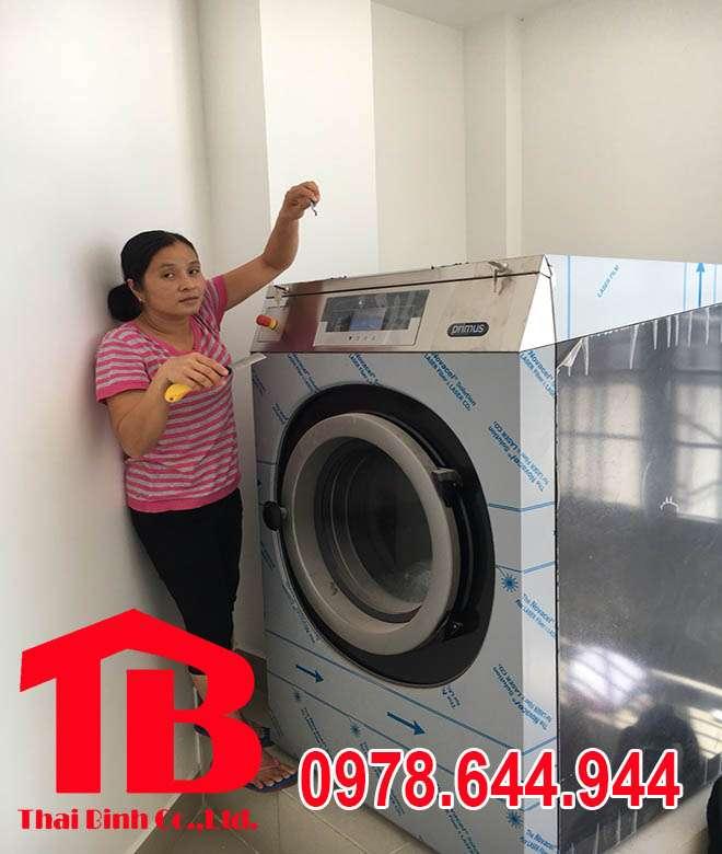 Lắp đặt máy giặt Primus tại khách sạn Trường Diễm – Long An
